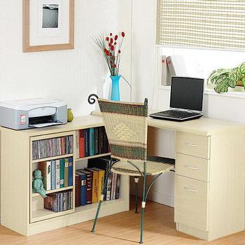 Accessco 日式魔術空間厚板書桌櫃-三色(白橡木色)