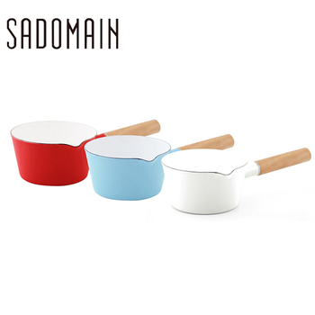仙德曼 琺瑯單柄牛奶鍋(顏色隨機出貨)