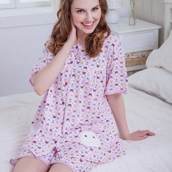 MFN蜜芬儂 活潑兔寶寶褲裝成套居家睡衣(2色)(粉紅F)