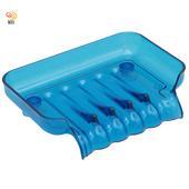 《月陽》彩色透明導流式吸盤肥皂盒超值2入(1166)