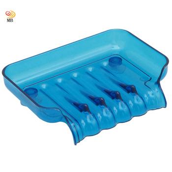 月陽 彩色透明導流式吸盤肥皂盒超值2入(1166)