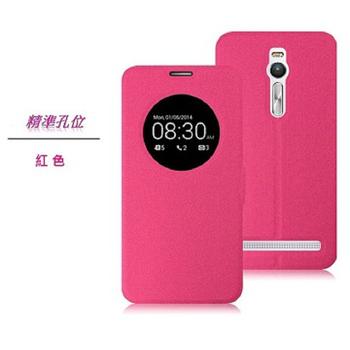 Asus華碩 Zenfone2 ZE550ML/ZE551ML 5.5吋 休眠喚醒智慧視窗可立式皮套(粉色)