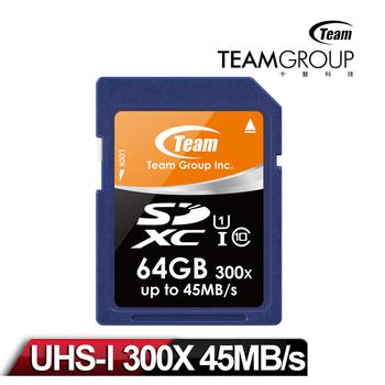 Team十銓科技 SDXC 高速 UHS-1 64GB 記憶卡