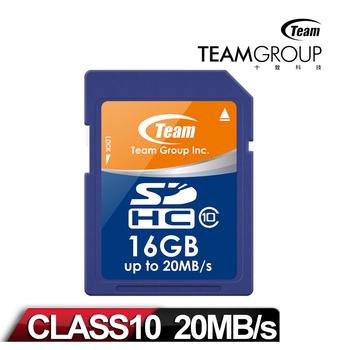 Team十銓科技 SDHC 16GB Class10記憶卡