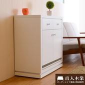 《日本直人木業》CARO白色美學80公分廚櫃