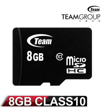 Team十銓科技 8GB MicroSDHC Class10 記憶卡