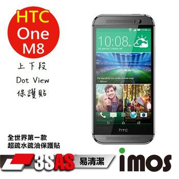 TWMSP iMOS HTC M8 上下段Dot View 精細孔洞 保護貼