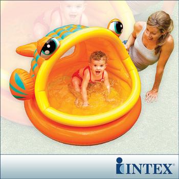 INTEX BABY金魚游泳池/遮陽嬰兒水池(53L)