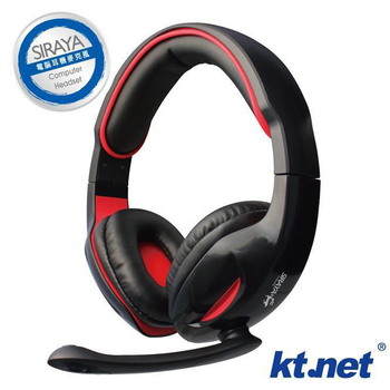 KTNET 西拉雅III電腦耳機麥克風(黑)