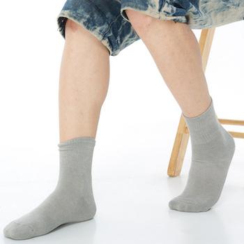 《【KEROPPA】》可諾帕1/2竹碳運動氣墊男襪(3雙C90011-灰色)
