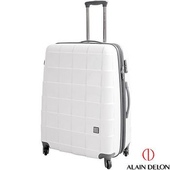 ALAIN DELON ~ 亞蘭德倫 29吋 時尚方格系列旅行箱/拉桿箱/行李箱(白)