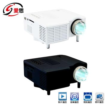 《IS愛思》P-028 60吋高畫質微型投影機(白色)