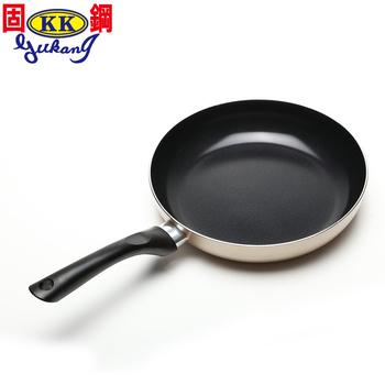 固鋼 黃金陶瓷不沾平煎鍋(26cm)(黃金26cm)