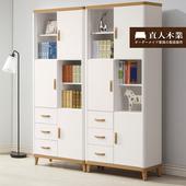 《日本直人木業》LIVE潔白生活功能書櫥-單入-免組