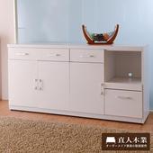 《日本直人木業》SUNNE簡單生活 160CM廚櫃-免組