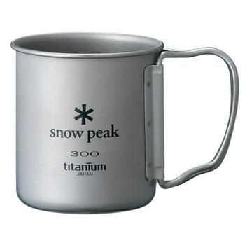 Snow Peak 鈦合金單層杯-折疊把手 300ML MG-042FHR