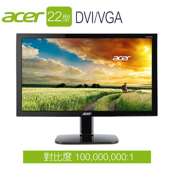 Acer宏碁 KA220HQ 22型 FullHD 護眼低藍光 液晶螢幕