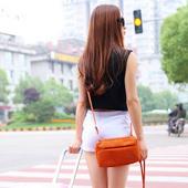 《Bunny》韓款旅行防水收納單肩包護照包證件包手拿包(橘色)