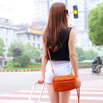 ★結帳現折★Bunny 韓款旅行防水收納單肩包護照包證件包手拿包(橘色)