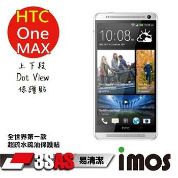 TWMSP iMOS 宏達電 HTC One Max 上下段Dot View 精細孔洞 保護貼