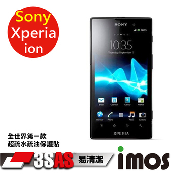 《TWMSP》★全世界第一款★iMOS 索尼 Sony Xperia Ion 3SAS 防潑水 防指紋 疏油疏水 螢幕保護貼