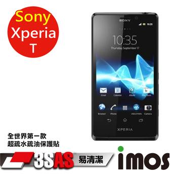 TWMSP ★全世界第一款★iMOS 索尼 Sony Xperia T 3SAS 防潑水 防指紋 疏油疏水 螢幕保護貼