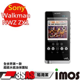 《TWMSP》★全世界第一款★iMOS 索尼 Sony Walkman NWZ-ZX1 3SAS 防潑水 防指紋 疏油疏水 螢幕保護貼