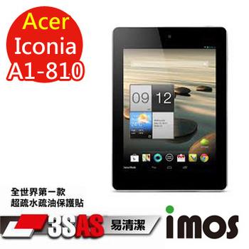 TWMSP ★全世界第一款★iMOS 宏碁 Acer Iconia A1-810 3SAS 防潑水 防指紋 疏油疏水 螢幕保護貼