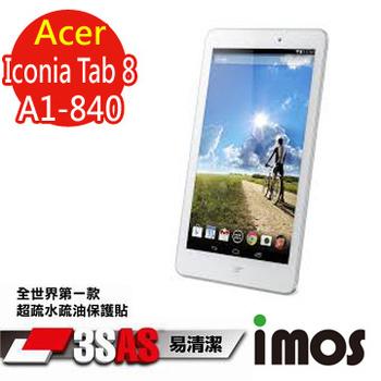 TWMSP ★全世界第一款★iMOS 宏碁 Acer Iconia Tab 8 A1-840 3SAS 防潑水防指紋 疏油疏水 螢幕保護貼
