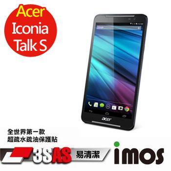 TWMSP ★全世界第一款★iMOS 宏碁 Acer Iconia Talk S 3SAS 防潑水 防指紋 疏油疏水 螢幕保護貼