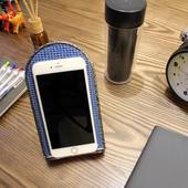 《頂堅》[鐵板製]三段折疊式-手機架/平板電腦支架(二色可選)-1入/組(大理石黑)