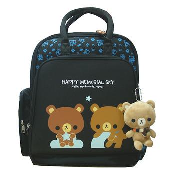HAPPY MEMORIAL SKY 天空熊MIT兩用護脊後背書包(二色可選)(天空藍)
