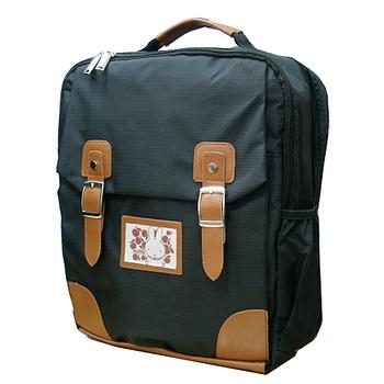 Miffy 米飛兔學院風護脊書包後背包(二色可選)(黑)