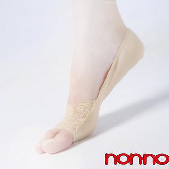 【non-no儂儂褲襪】 (6入) 蕾絲魚嘴襪套-25002(膚)