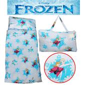 《冰雪奇緣》【冰雪奇緣】FROZEN舞動冰雪幼教兒童睡袋(二色)(粉藍)