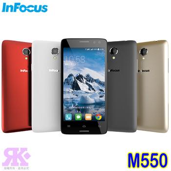 InFocus M550 5.5吋八核祼視3D智慧手機-贈專用視窗皮套+9H鋼化玻璃保貼+2600mAh行電(礦石灰)