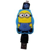 《小小兵》Micro USB 造型伸縮傳輸線-深藍