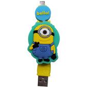 《小小兵》Micro USB 造型伸縮傳輸線-綠