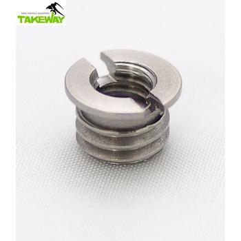 Takeway 台灣製造Takeway不銹鋼轉接螺絲1/4→3/8 二分轉三分螺絲 1/4-3/8 1/4-3/8 細牙轉粗牙2分轉3分螺絲(1/4→3/8)
