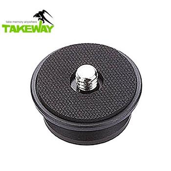Takeway 台灣品牌Takeway鉗式腳架T1圓型雲台快拆板T-RC01快拆板T-RC01快裝板TRC01快裝板圓形快拆板圓快拆板圓型快拆板(T-RC01)