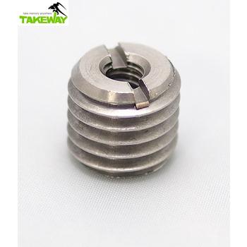 Takeway 台灣製造Takeway不銹鋼轉接螺絲1/4→5/8 二分轉五分螺絲 1/4-5/8 1/4-5/8 細牙轉粗牙2分轉5分螺絲(1/4→5/8)