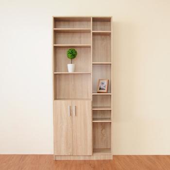 Hopma 都會二門六格書櫃-二色可選 /收納/展示櫃(淺橡木色)