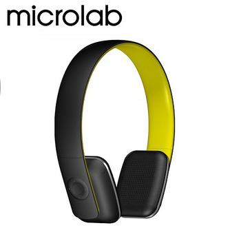 《Microlab》T2 藍芽4.0 無線高傳真多功能多媒體耳機 (內建通訊麥克風)(T2-C螢光)