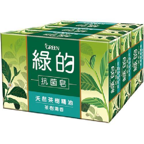 《GREEN綠的》抗菌皂-茶樹清香(100g*3入)