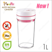 《MorePet》新一代電動真空密封罐1L(粉紅色)