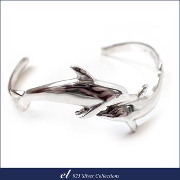el 925 Silver 純銀雙海豚手環 Nimble(手環)