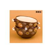 《易奇寶》義式創意童趣陶瓷米飯碗二入裝 圈圈咖(組)