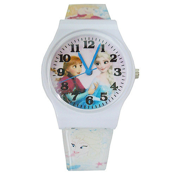 《迪士尼&漫威》熱門動漫卡通錶兒童錶 (多款可選)(冰雪奇緣-白)-★買一送一★
