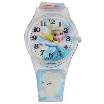 《迪士尼&漫威》熱門動漫卡通錶兒童錶 (多款可選)(冰雪奇緣-藍)-★買一送一★