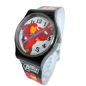 《迪士尼&漫威》熱門動漫卡通錶兒童錶 (多款可選)(Marvel鋼鐵人-黑)-★買一送一★